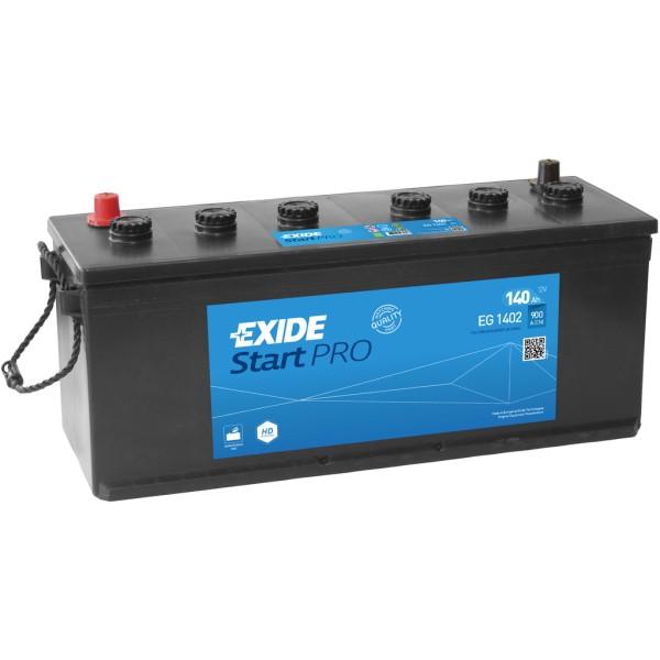 Batería Exide Start Pro EG1402. 12V - 140Ah/900A (EN) (508x175x205mm)