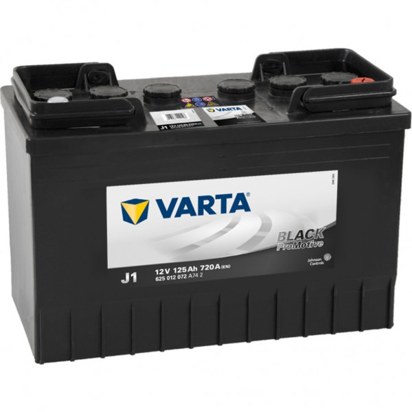 Batería Varta Promotive Black J1. 12V - 125Ah/720A (EN) Caja WOR (349x175x290mm)