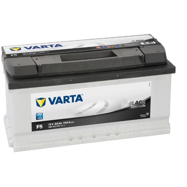 Batería Varta Black Dynamic F5. 12V - 88Ah/740A (EN) Caja LB5 (353x175x175mm)