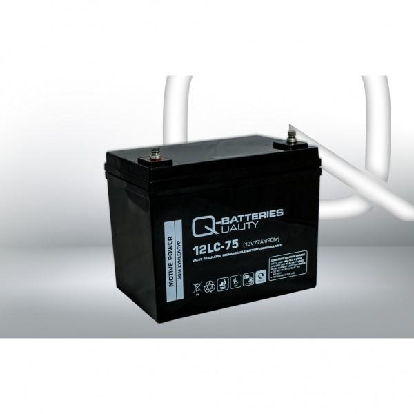 Batería Qbatteries Agm Deep Cycle Battery 12LC-75. Tecnología AGM. 12V - 77Ah (260x169x210mm)