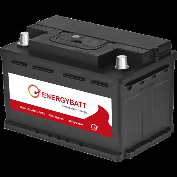 Batería Energybatt EBLB374680D. 12V - 74Ah/680A (EN) Caja LB3 (277x174x176mm)