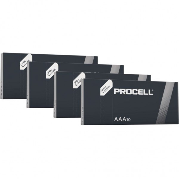 Pila Duracell Procell Aaa - 40 Ud 1,5V