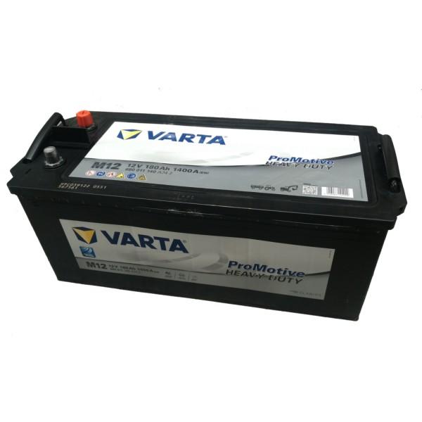 Batería Varta Promotive Black M12. 12V - 180Ah/1400A (EN) Caja B (513x223x223mm)
