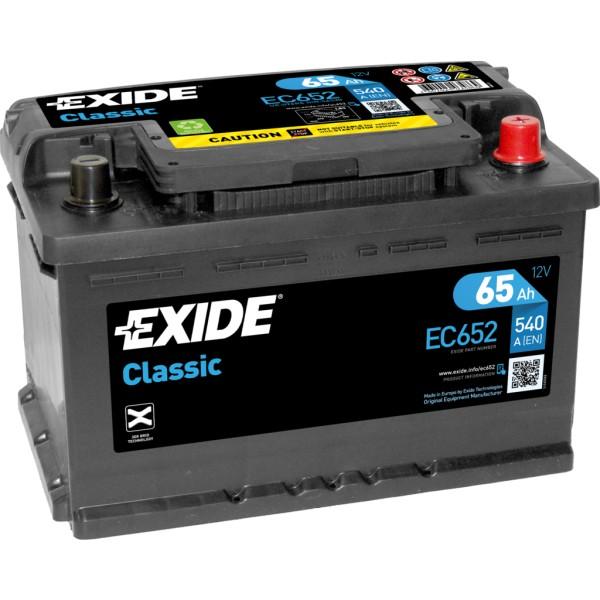 Batería Exide-Classic EC652. 12V - 65Ah/540A (EN) Caja LB3 (278x175x175mm)