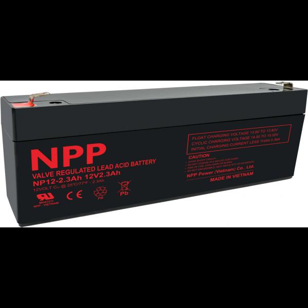 Batería Npp Power NP12-2.3AHT1. 12V - 2,1Ah (178x34x60mm)
