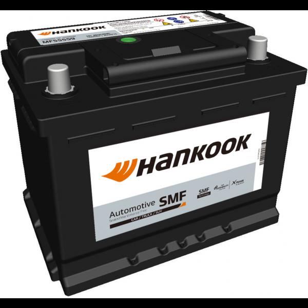 Batería Hankook MF55559. 12V - 55Ah/480A (EN) Caja L2 (242x174x190mm)