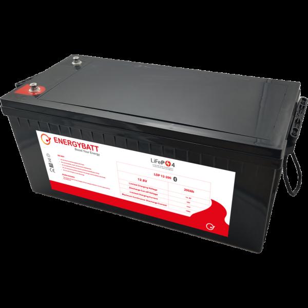 Batería Energybatt Litio (Lifepo4) LDP12-200EB. 12,8V - 200Ah (522x238x220mm)