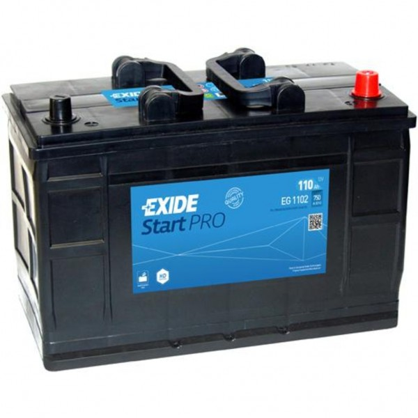 Batería Exide Start Pro EG1102. 12V - 110Ah/750A (EN) Caja LOT7 (349x175x235mm)