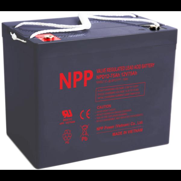 Batería Npp Power NPD12-75AHT14. 12V - 75Ah (260x168x211mm)