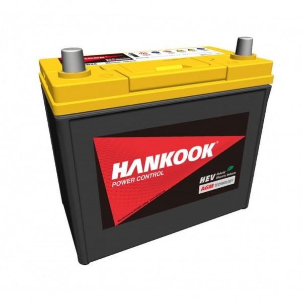 Batería Hankook AGMS46B24R. 12V - 45Ah/370A (EN) Caja B24 (236x125x200mm)