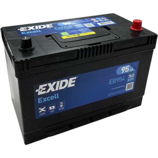 Batería Exide Excell EB954. 12V - 95Ah/720A (EN) Caja M27 (306x173x222mm)