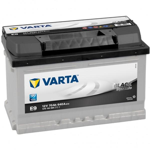 Batería Varta Black Dynamic E9. 12V - 70Ah/640A (EN) Caja LB3 (278x175x175mm)
