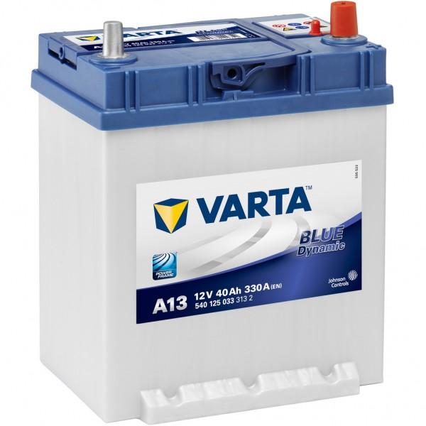 Batería Varta Blue Dynamic A13. 12V - 40Ah/330A (EN) Caja B19 (187x140x227mm)