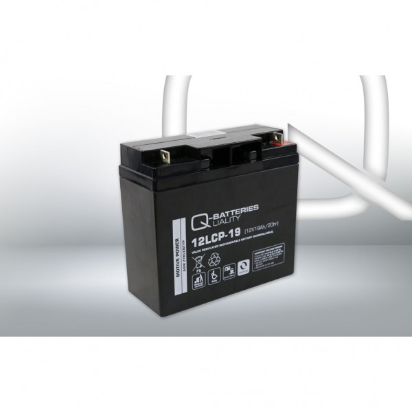 Batería Qbatteries Agm Deep Cycle Battery 12LCP-19. Tecnología AGM. 12V - 19Ah (181x77x167mm)