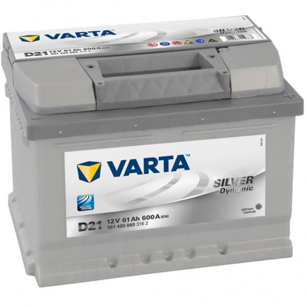 Batería Varta Silver Dynamic D21. 12V - 61Ah/600A (EN) Caja LB2 (242x175x175mm)