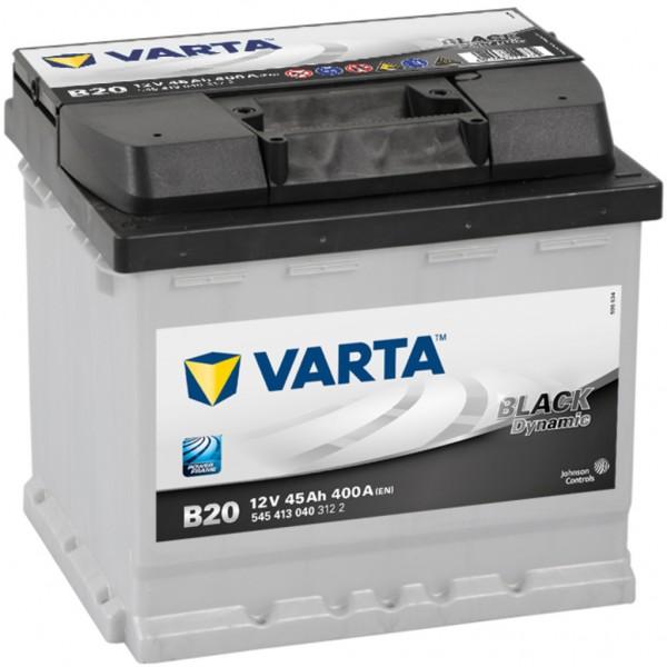 Batería Varta Black Dynamic B20. 12V - 45Ah/400A (EN) Caja L1 (207x175x190mm)