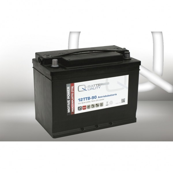 Batería Qbatteries Tubular Plate Battery 12TTB-90. 12V - 90Ah (330x175x225mm)