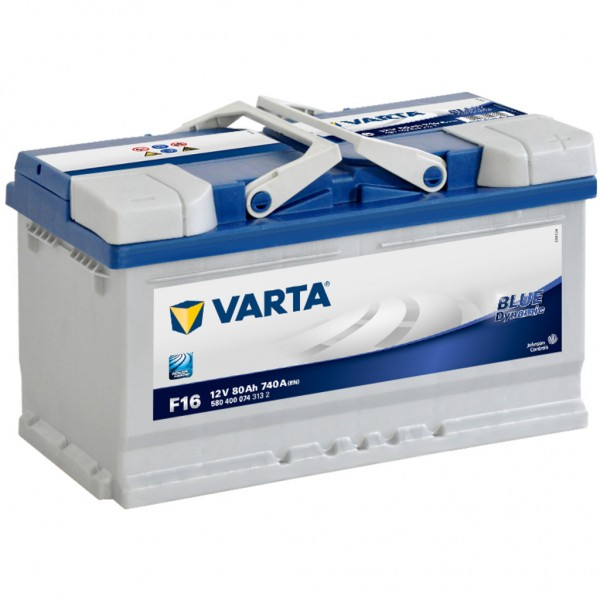 Batería Varta Blue Dynamic F16. 12V - 80Ah/740A (EN) Caja L4 (315x175x190mm)