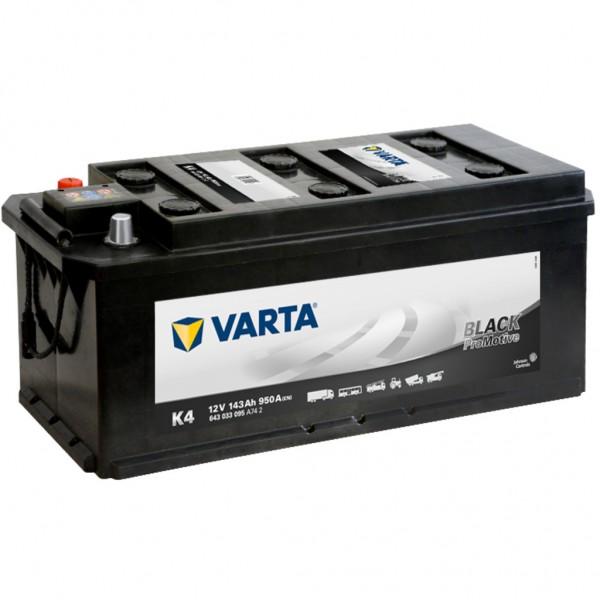 Batería Varta Promotive Black K4. 12V - 143Ah/950A (EN) (514x218x210mm)