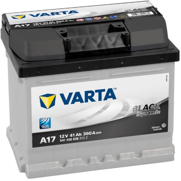 Batería Varta Black Dynamic A17. 12V - 41Ah/360A (EN) Caja LB1 (207x175x175mm)