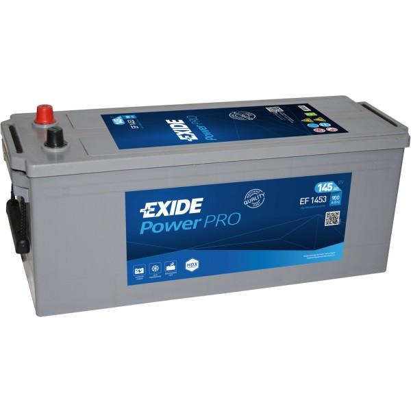 Batería Exide Power Pro EF1453. 12V - 145Ah/1050A (EN) Caja A (513x189x223mm)