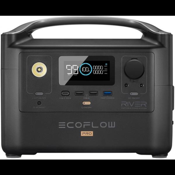EcoFlow River PRO Power Station 720Wh Litio ION 600W Generador Portátil