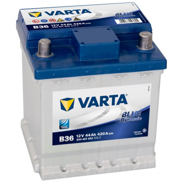 Batería Varta Blue Dynamic B36. 12V - 44Ah/420A (EN) Caja L0 (175x175x190mm)