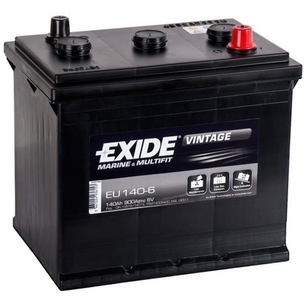Batería Exide Marina Vintage EU140-6. 6V - 140Ah/900A (EN) (257x175x236mm)