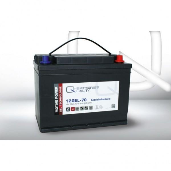 Batería Qbatteries Gel Traction Battery 12GEL-70. Tecnología GEL. 12V - 83Ah (308x175x225mm)