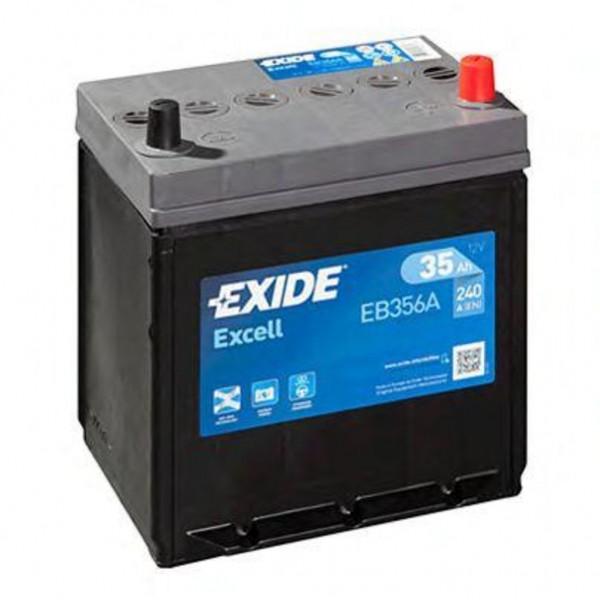 Batería Exide Excell EB356A. 12V - 35Ah/240A (EN) Caja B19 (187x127x220mm)