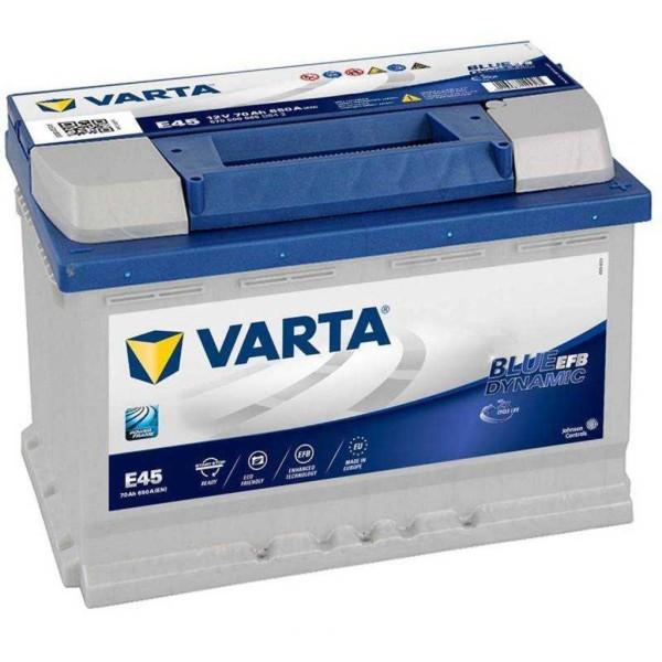 Batería Varta Blue Dynamic Efb E45. 12V - 70Ah/650A (EN) Caja L3 (278x175x190mm)