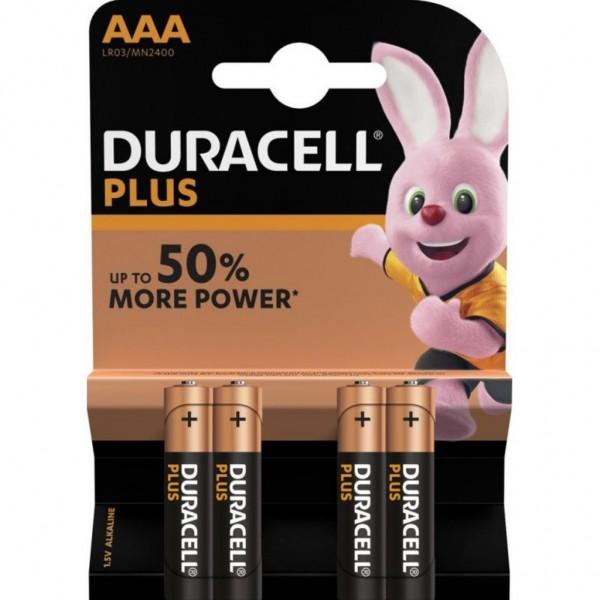 Pila Duracell Plus Aaa - 4 Ud 1,5V