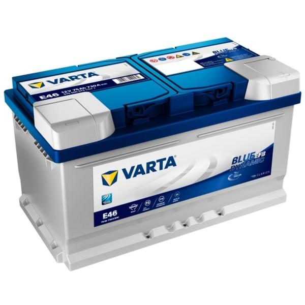 Batería Varta Blue Dynamic Efb E46. 12V - 75Ah/730A (EN) Caja LB4 (315x175x175mm)