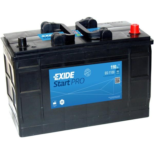 Batería Exide Start Pro EG1100. 12V - 110Ah/750A (EN) Caja LOT7 (349x175x235mm)