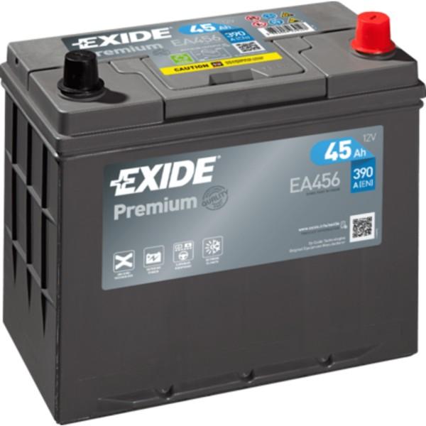 Batería Exide Premium EA456. 12V - 45Ah/390A (EN) Caja B24 (237x127x227mm)