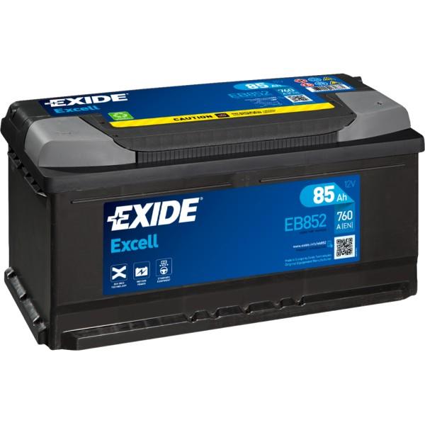 Batería Exide Excell EB852. 12V - 85Ah/760A (EN) Caja LB5 (353x175x175mm)