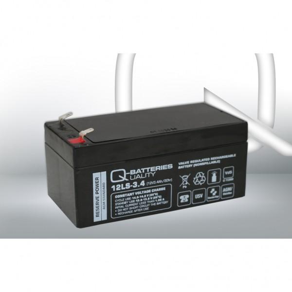 Batería Qbatteries Agm Standard 12LS-3.4. Tecnología AGM. 12V - 3,4Ah (134x67x61mm)