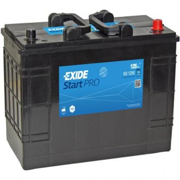 Batería Exide Start Pro EG1250. 12V - 125Ah/760A (EN) Caja WOR (349x175x290mm)