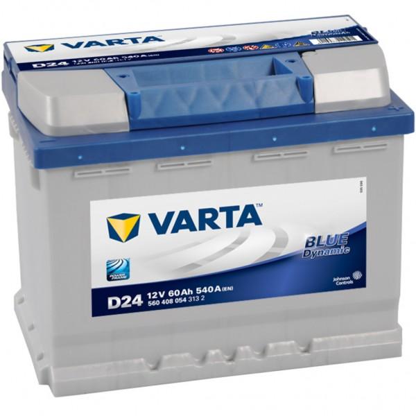 Batería Varta Blue Dynamic D24. 12V - 60Ah/540A (EN) Caja L2 (242x175x190mm)