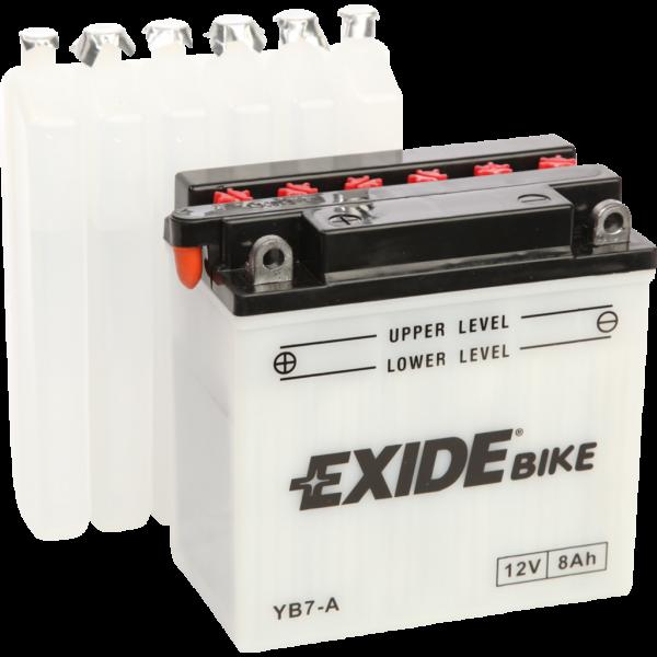 Batería Exide Moto 12V Conventional EB7-A. 12V - 8Ah/85A (EN) (135x75x135mm)