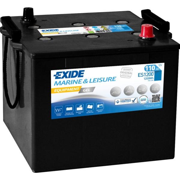 Batería Exide Marina Gel ES1200. 12V - 110Ah/760A (EN) (286x269x230mm)